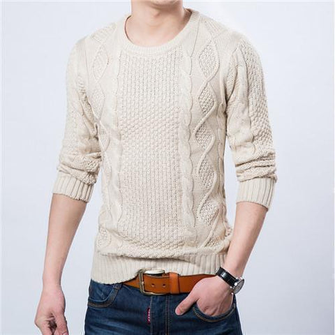 Men's Pullovers Warm Knitted Sweaters-Sweaters-Kenya-LeStyleParfait.Co.Ke