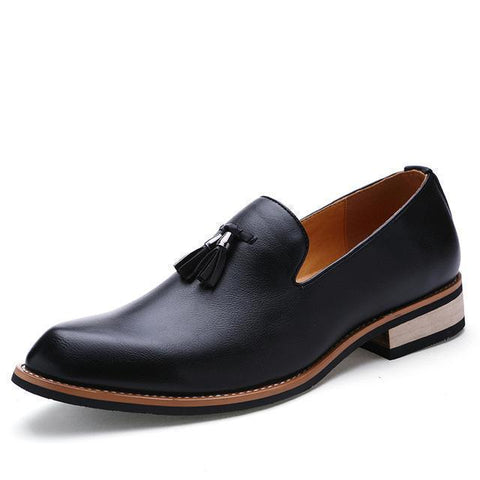 Men's Shoes Casual Pointed Toe Loafer Shoes With Tassel-Shoes-LeStyleParfait.Co.Ke
