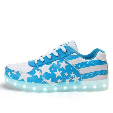 Men's Sneakers, Glowing LED Light Shoes, Men Casual Shoes-Shoes-light blue-Le Style Parfait Kenya