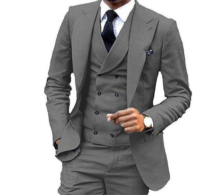 Men's Suit 3-Piece Suit With Double Breasted Vest-Suit-Kenya-LeStyleParfait.Co.Ke