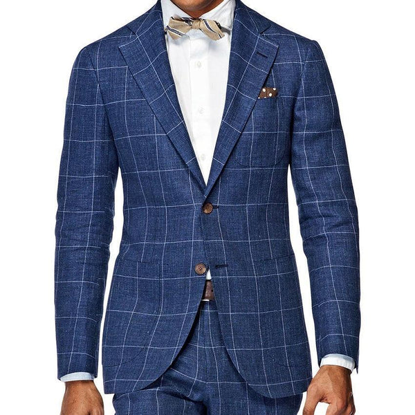 Men's Suit Custom Made Elegant Checked Mens Business Suit-Suit-Kenya-LeStyleParfait.Co.Ke