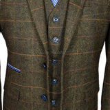 Men's Suit Slim Fit Tweed Suits Wool Brown-Suit-Kenya-LeStyleParfait.Co.Ke