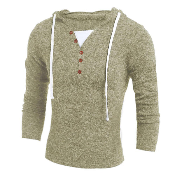 Men's Sweaters Hooded Slim Fit Sweaters-Sweaters-Kenya-LeStyleParfait.Co.Ke