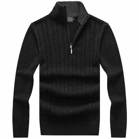 Men's Sweaters Winter Pullovers Grey Black Navy-Sweaters-Black-Le Style Parfait Kenya