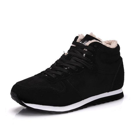 Men's Winter Boots Plush Sneakers Genuine Leather-Shoes-LeStyleParfait.Co.Ke