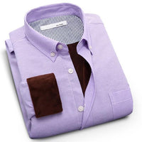 Men's Winter Shirts Warm Long Sleeve Dress Shirt-Shirt-Kenya-LeStyleParfait.Co.Ke