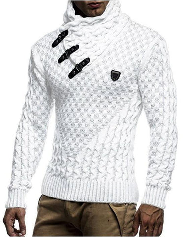 Men's Winter Sweater Turtleneck Slim Fit Pullover Sweater-Sweaters-Le Style Parfait Kenya