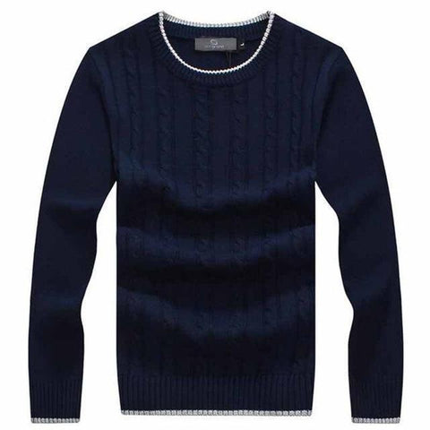 Men's Winter Sweaters Warm Pullovers-Sweaters-Navy Blue-Le Style Parfait Kenya