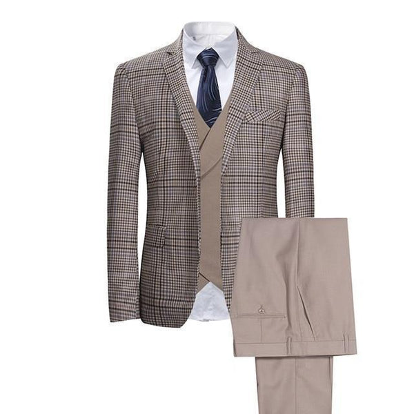 Plaid Men's Suit Three Piece Suit-Suit-Kenya-LeStyleParfait.Co.Ke