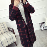 Plaid Winter Coat, Black-Women Coats-Le Style Parfait Kenya