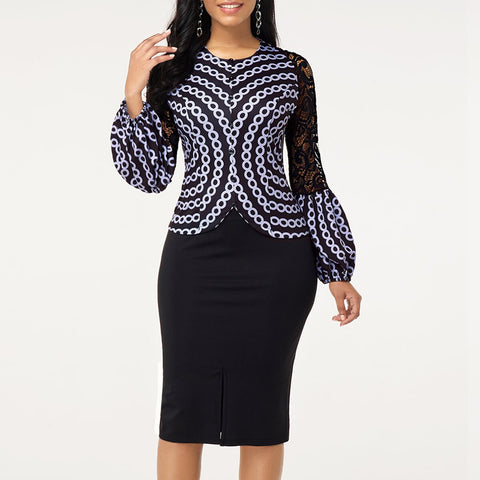 Pride of Africa Lace Bodycon Dress-Women-Dresses-Kenya-LeStyleParfait