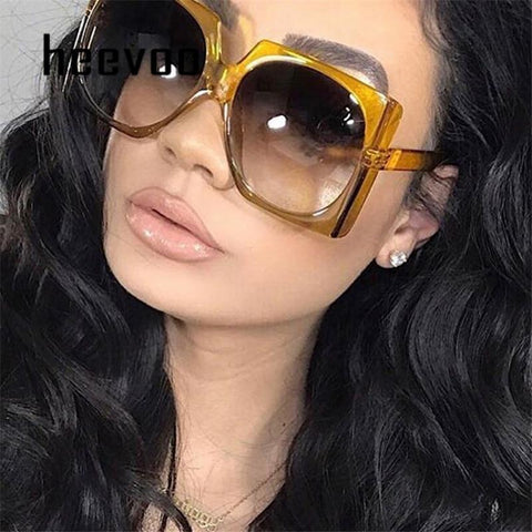 Retro Square Oversized Sunglasses For Women/-sunglasses-Kenya-LeStyleParfait