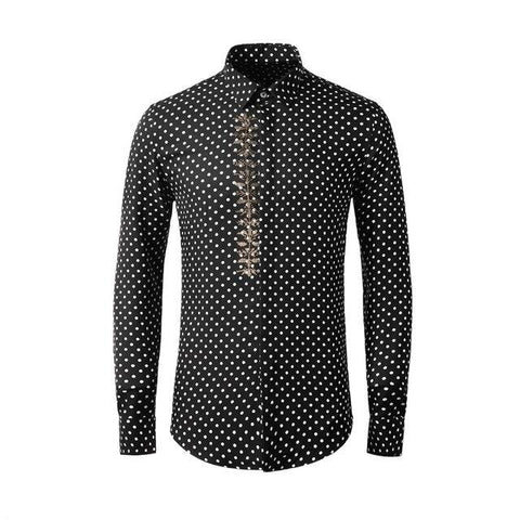 Rhinestone Dotted Shirt For Men-Shirt-Online-Kenya-LeStyleParfait