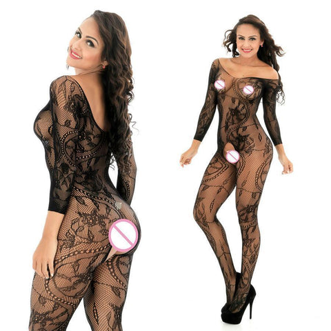 Sexy Lingerie Women Bodystocking Black Bodysuit-Lingerie-Kenya-LeStyleParfait.Co.Ke