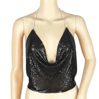Sexy Tank Tops Backless Sequined Tops-Women Tops-Kenya-LeStyleParfait.Co.Ke