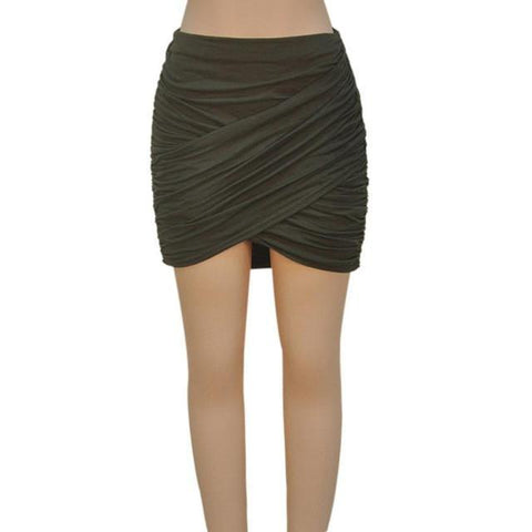 Sexy Women Mini Skirts Bodycon Slit Skirt-Skirts-Kenya-LeStyleParfait.Co.Ke