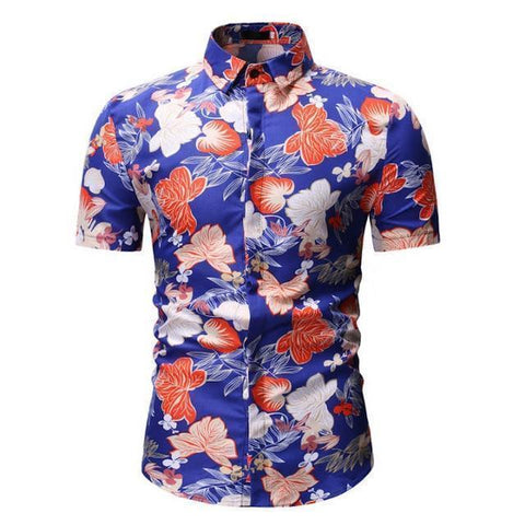 Shirt-Mens Tropical Shirt, Casual Hawaiian Shirt-Shirt-LeStyleParfait.Com