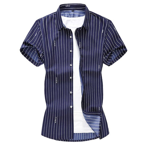 Short Sleeve Striped Shirt For Men - Summer Shirt-Shirt-Online-Kenya-LeStyleParfait