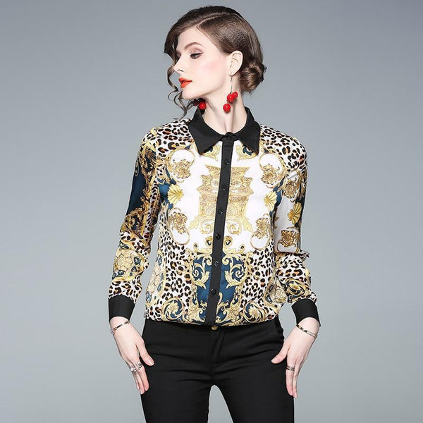 Silk Blouse Trendy Fashion Women Shirt-Blouse-Kenya-LeStyleParfait.Co.Ke
