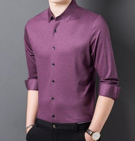Strummer Satin Men's Dress Shirt-Shirt-LeStyleParfait.Co.Ke