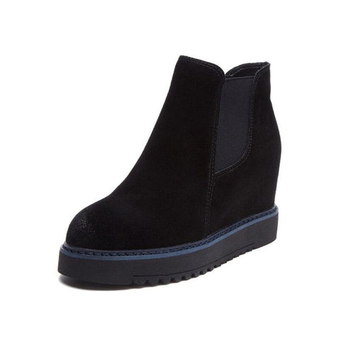 Suede Ankle Boots For Women - Wedges Shoes-Shoes-LeStyleParfait.Co.Ke