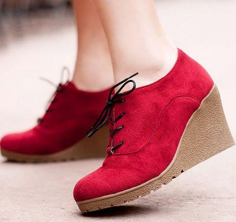 Suede Boots - Women Wedges Shoes-Shoes-LeStyleParfait.Co.Ke