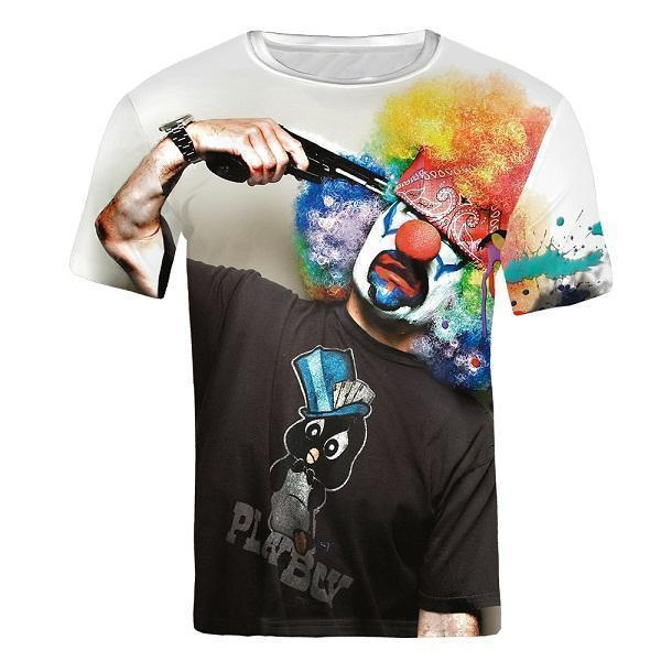 T-Shirt, 3D T-Shirt Clown UNISEX-T-Shirts-Kenya-LeStyleParfait.Co.Ke