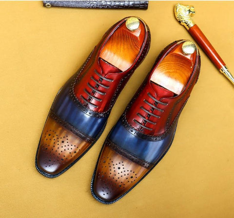 Timotio Leather Oxford Shoes For Men-Shoes-online-LeStyleParfait.Co.Ke