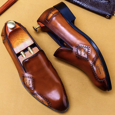 Tomasso Leather Loafer Shoes For Men-Shoes-online-LeStyleParfait.Co.Ke