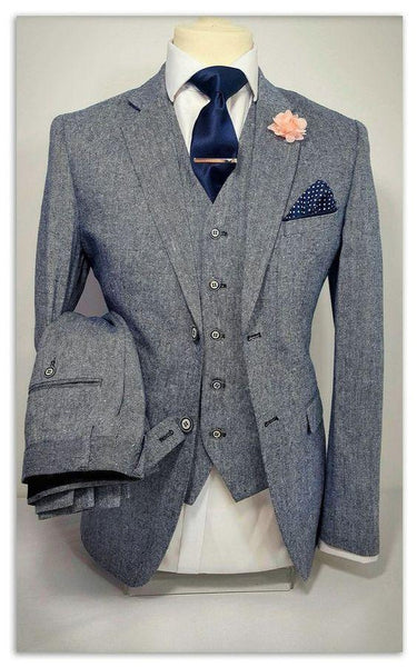 Tweed Suit 3-Piece Men's Suit Grey-Suit-Kenya-LeStyleParfait.Co.Ke