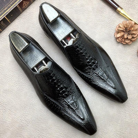 Ucello Pointed Toe Leather Dress Shoes For Men-Shoes-online-LeStyleParfait.Co.Ke