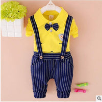 UNISEX Clothing Set, 2 Pcs T-Shirt, Striped Pants For Boys & Girls 1-4 Years-Children's Clothing Set-LeStyleParfait.Co.Ke