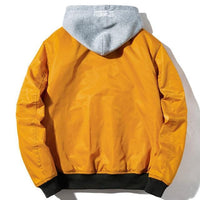 Windstorm Bomber Jacket-Jacket-Yellow Winter With Hoodie-Le Style Parfait Kenya