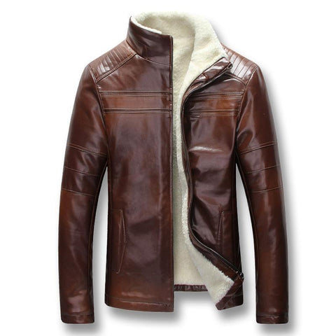 Winter Jacket, Men's Leather Jacket, Slim Fit-Jacket-Kenya-LeStyleParfait.Co.Ke