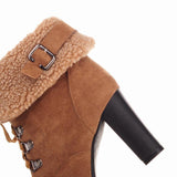 Winter Snow Boots Women Shoes Thick Heels With Fur-Shoes-Le Style Parfait Kenya