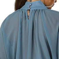 Women Chiffon Blouse, Batwing Sleeves-Blouse-Kenya-LeStyleParfait.Co.Ke