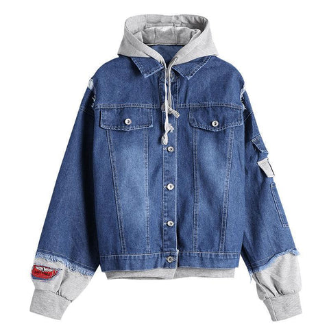 Women Denim Jacket Twinset Loose Jackets-Jacket-Le Style Parfait Kenya