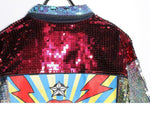 Women Jacket Sequins Punk Jacket-Jacket-Le Style Parfait Kenya
