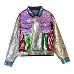 Women Jacket Sequins Punk Jacket-Jacket-Multi-Le Style Parfait Kenya
