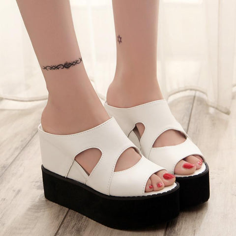 Women Open Toe Wedges, High Heel Sandals, Block Shoes-Shoes-Le Style Parfait Kenya