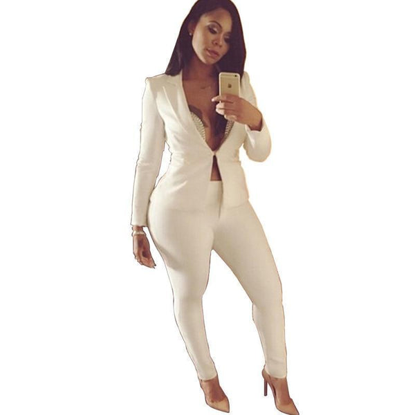 Women Pants Suit, Chic Women Suit-Suit-Kenya-LeStyleParfait.Co.Ke