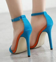 Women Sandals Colored Suede Women Shoes High Heel Sandals-Shoes-Le Style Parfait Kenya