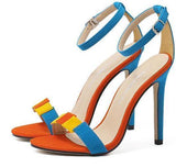 Women Sandals Colored Suede Women Shoes High Heel Sandals-Shoes-Multi-Le Style Parfait Kenya