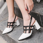 Women Sandals White Pointed Toe High Heels Sandals-Shoes-Le Style Parfait Kenya