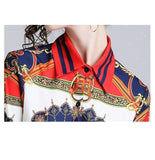 Women Shirts Printed Long Sleeve Fashion Blouse-Blouse-Kenya-LeStyleParfait.Co.Ke