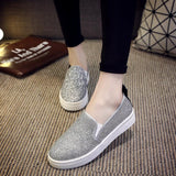 Women Shoes Casual Loafers Round Silver Sequins Casual Flat Shoes-Shoes-Le Style Parfait Kenya