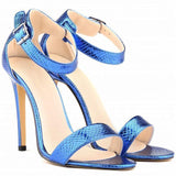 Women Shoes Peep-Toe High Heel Shoes-Shoes-Blue-Le Style Parfait Kenya
