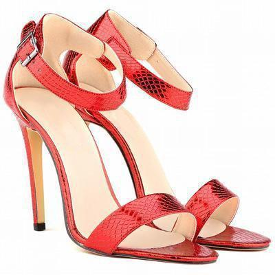 Women Shoes Peep-Toe High Heel Shoes-Shoes-Red-Le Style Parfait Kenya