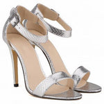 Women Shoes Peep-Toe High Heel Shoes-Shoes-Silver-Le Style Parfait Kenya