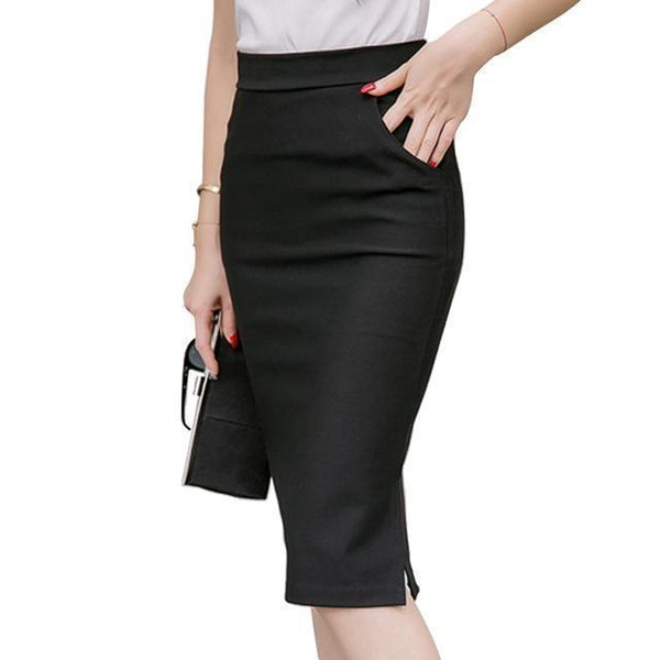 Women Skirts Plus Size Pencil Skirts-Skirts-Kenya-LeStyleParfait.Co.Ke